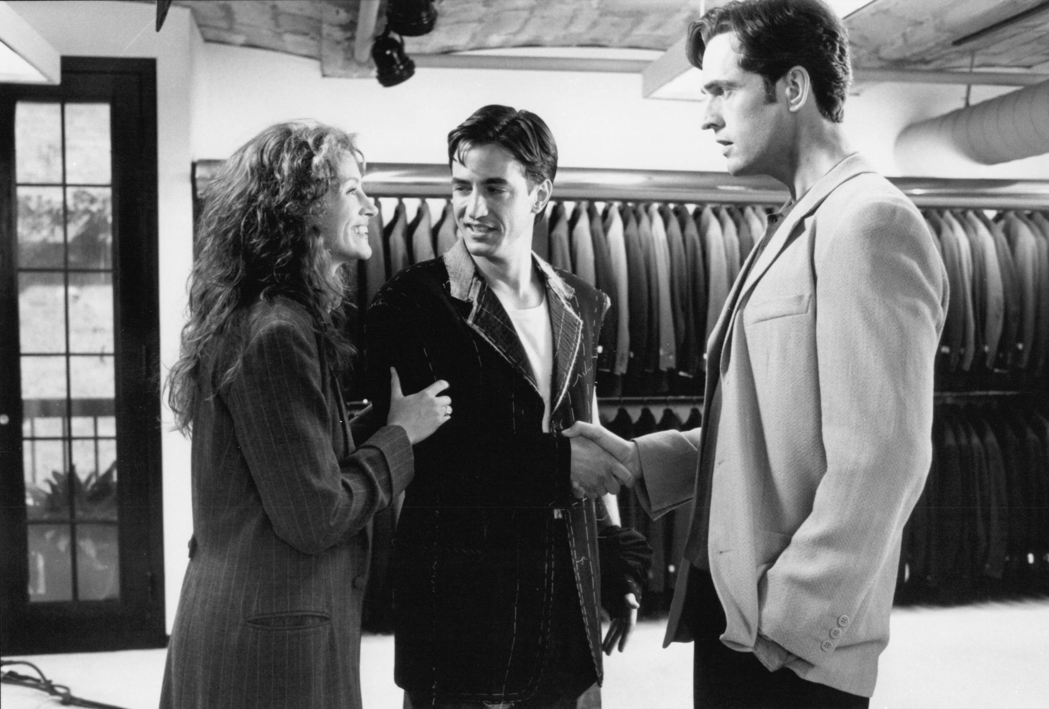 Julia Roberts, Rupert Everett, and Dermot Mulroney in My Best Friend's Wedding (1997)