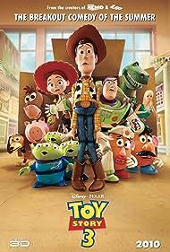 Tom Hanks, Joan Cusack, Tim Allen, John Ratzenberger, Wallace Shawn, Jodi Benson, Blake Clark, Estelle Harris, Jeff Pidgeon, and Don Rickles in Toy Story 3 (2010)