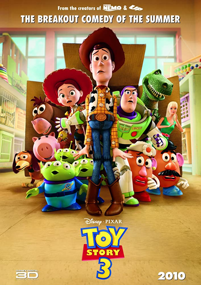 Toy Story 3 (2010) BluRay ORG Telugu Tamil Hindi English Dubbed 850MB Soft ESub