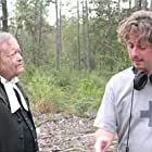 """Actor Michael Purnell (the Preacher) with Director Alex Turner in """"Dead Birds"""" (2004)."""