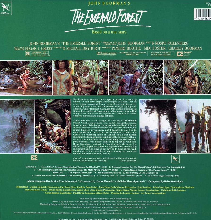 The Emerald Forest (1985) - Photo Gallery - IMDb