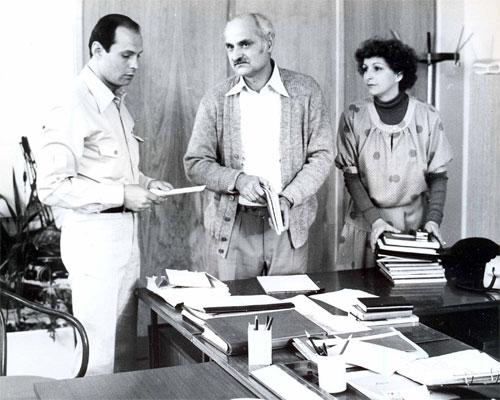 Lela Margitic, Mustafa Nadarevic, and Fabijan Sovagovic in Punom parom (1978)