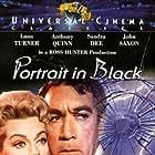 Anthony Quinn, Sandra Dee, Lana Turner, and John Saxon in Portrait in Black (1960)