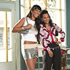 Denise (KIMORA LEE SIMMONS) and Rochelle (LISARAYE McCOY) stop by Gina's shop in MGM Pictures' comedy BEAUTY SHOP.