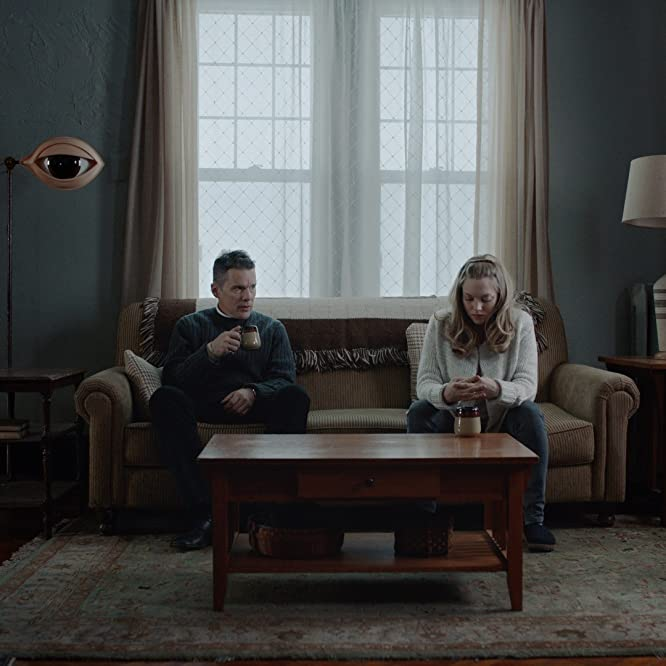 Ethan Hawke and Amanda Seyfried in First Reformed (2017)