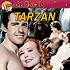 Eve Brent and Gordon Scott in Tarzan and the Trappers (1960)