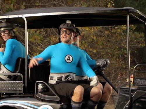 Christian Jacobs, James Briggs, and Ian Fowles in The Aquabats! Super Show! (2012)