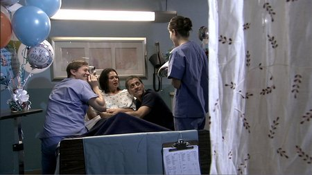 Jordan, Victoria and Steve at birth of their daughter, Amelia
