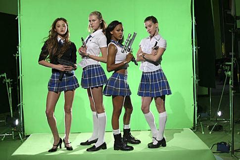 Meagan Good, Jill Ritchie, Devon Aoki, and Sara Foster in D.E.B.S. (2004)