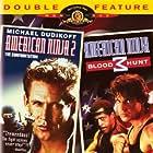 Michael Dudikoff, David Bradley, and Steve James in American Ninja 2: The Confrontation (1987)