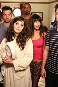 Zooey Deschanel, Max Greenfield, Damon Wayans Jr., Hannah Simone, Lamorne Morris, and Jake Johnson in New Girl (2011)