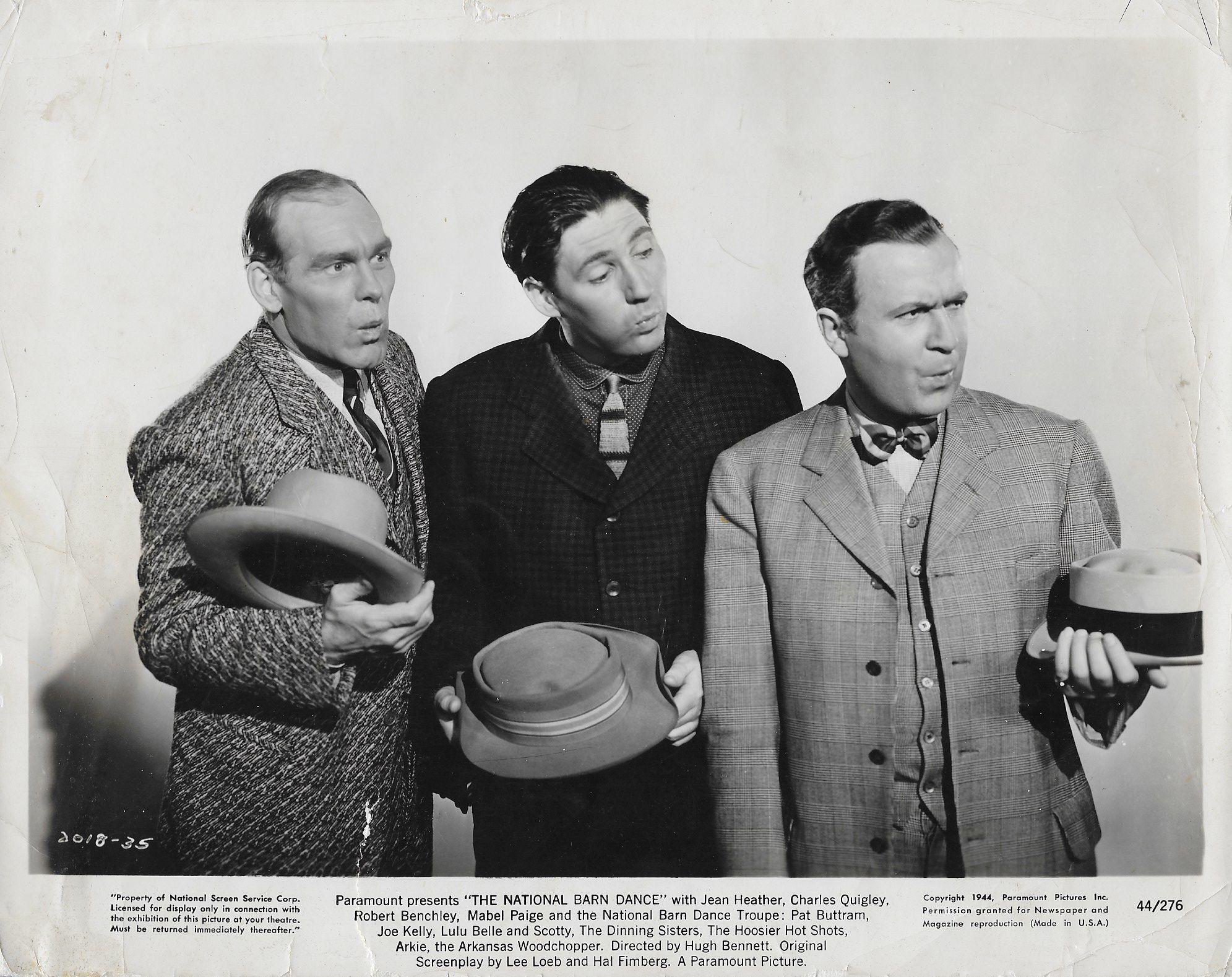Pat Buttram, Joe Kelly, and Luther W. Ossenbrink in National Barn Dance (1944)
