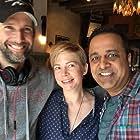 Director Bart Freundlich with Michelle Williams, Nikhil Kamkolkar