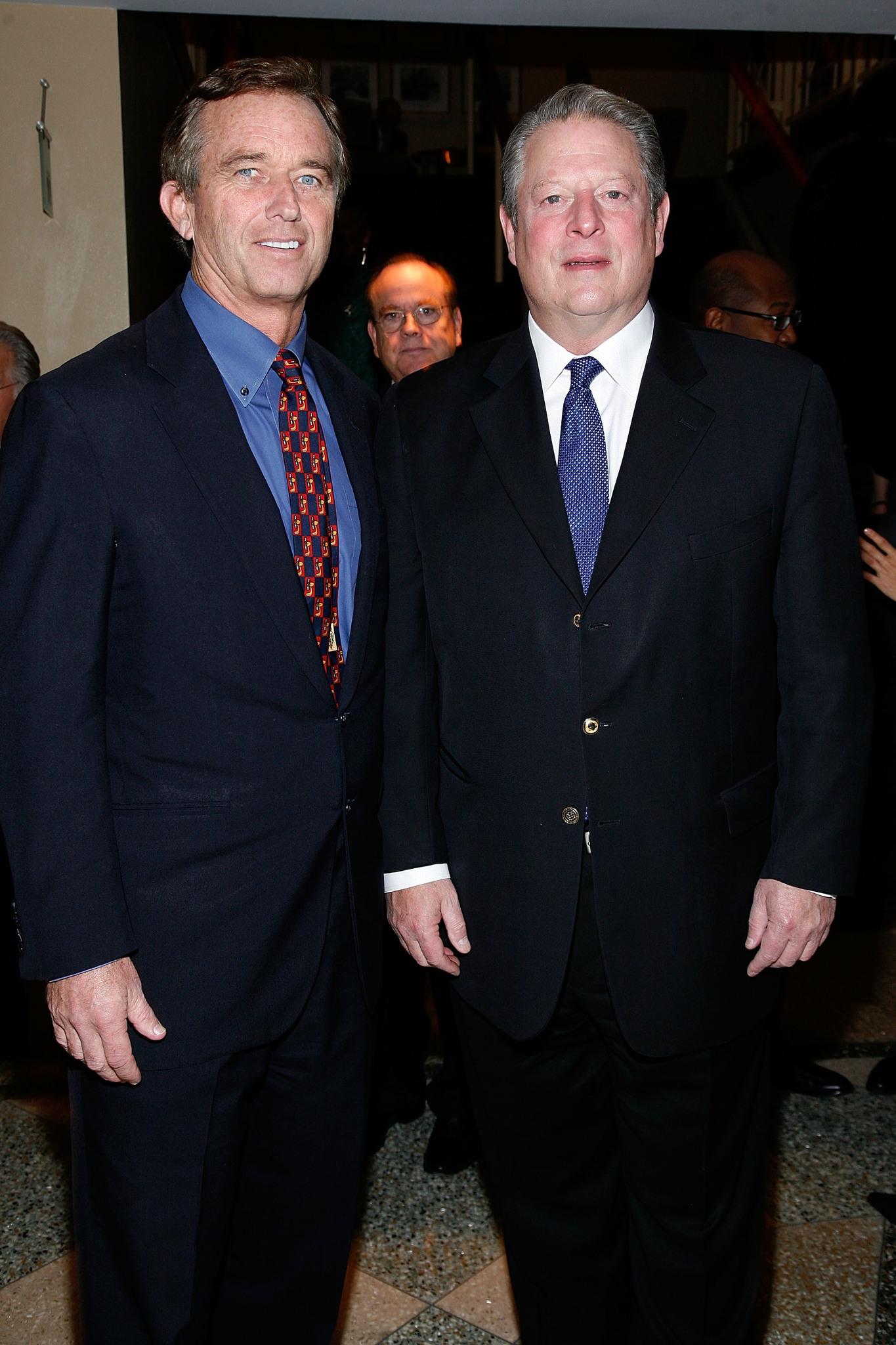 Al Gore and Robert F. Kennedy Jr.