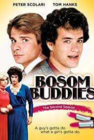 Tom Hanks and Peter Scolari in Bosom Buddies (1980)