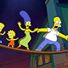 Julie Kavner, Nancy Cartwright, Dan Castellaneta, and Yeardley Smith in The Simpsons Movie (2007)