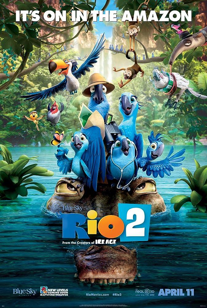 Anne Hathaway, Jamie Foxx, Kristin Chenoweth, Jesse Eisenberg, George Lopez, Jemaine Clement, Will.i.am, Pierce Gagnon, Rachel Crow, and Amandla Stenberg in Rio 2 (2014)