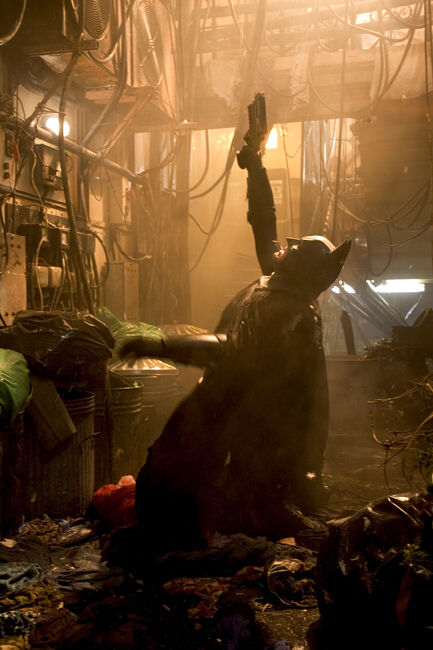 CHRISTIAN BALE stars as Batman in Warner Bros. Pictures action adventure Batman Begins.