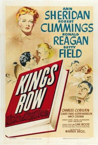 Claude Rains, Ronald Reagan, Robert Cummings, Betty Field, and Ann Sheridan in Kings Row (1942)