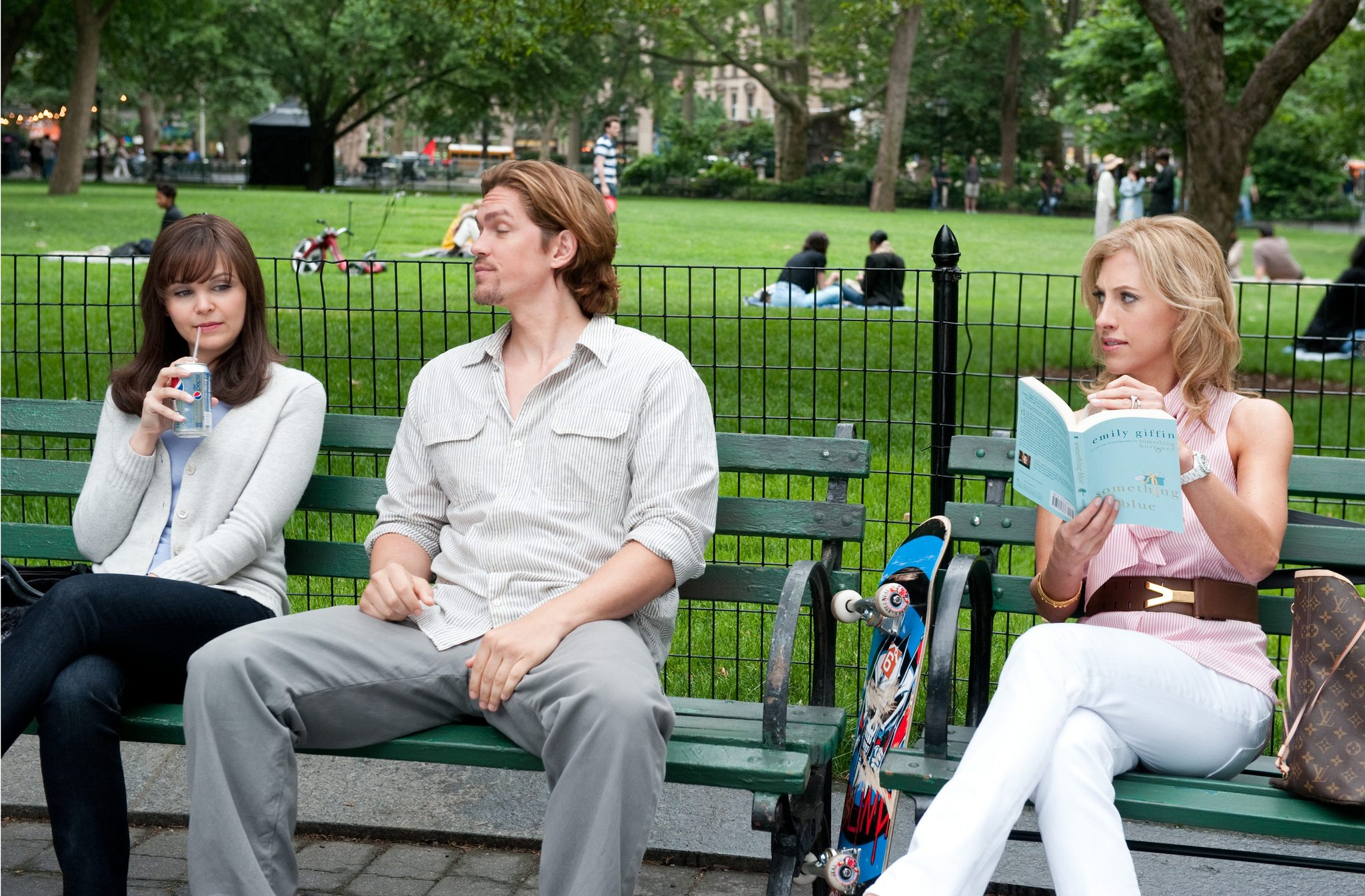 Ginnifer Goodwin, Steve Howey, and Emily Giffin in Something Borrowed (2011)