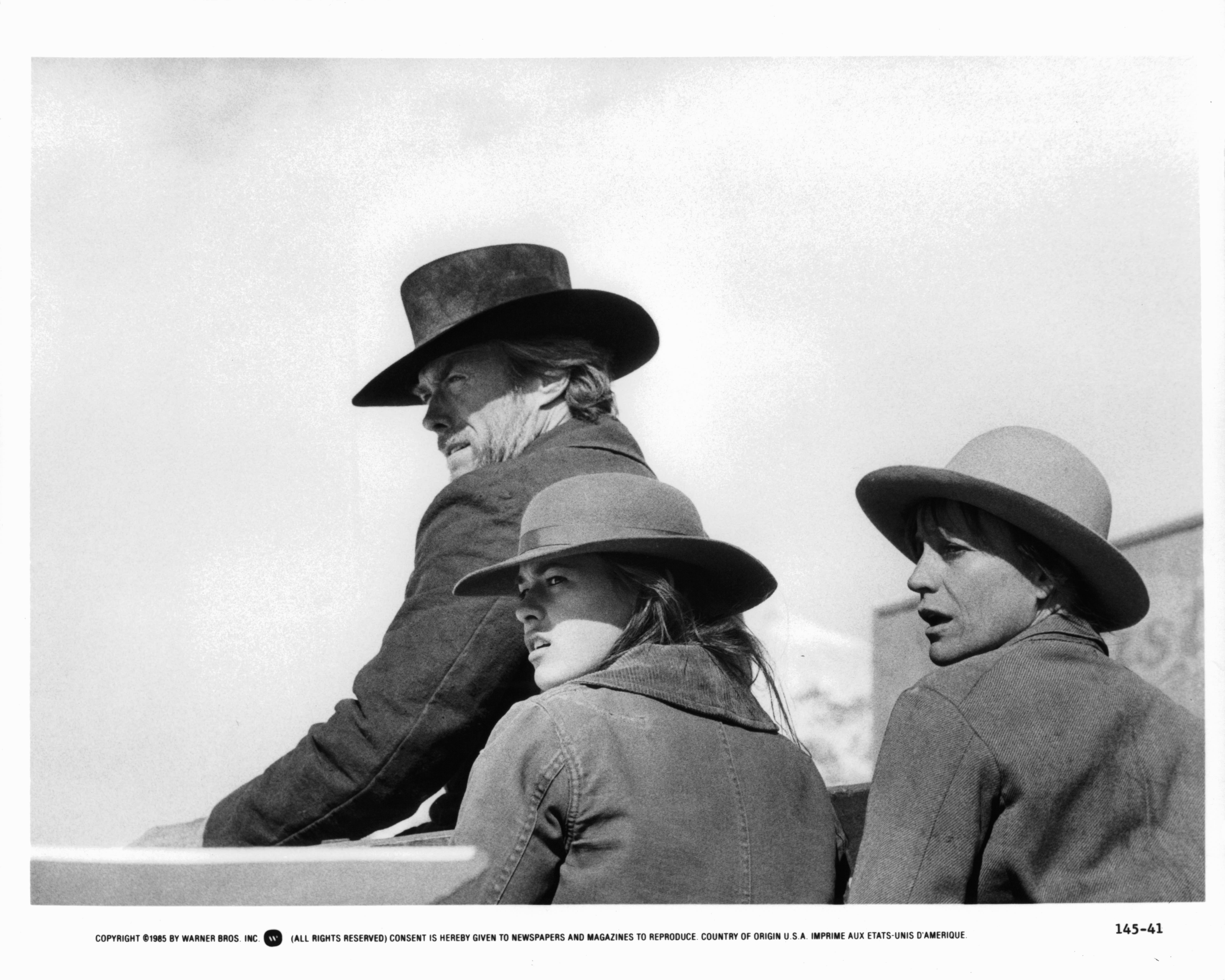 Clint Eastwood, Sydney Penny, and Carrie Snodgress in Pale Rider (1985)