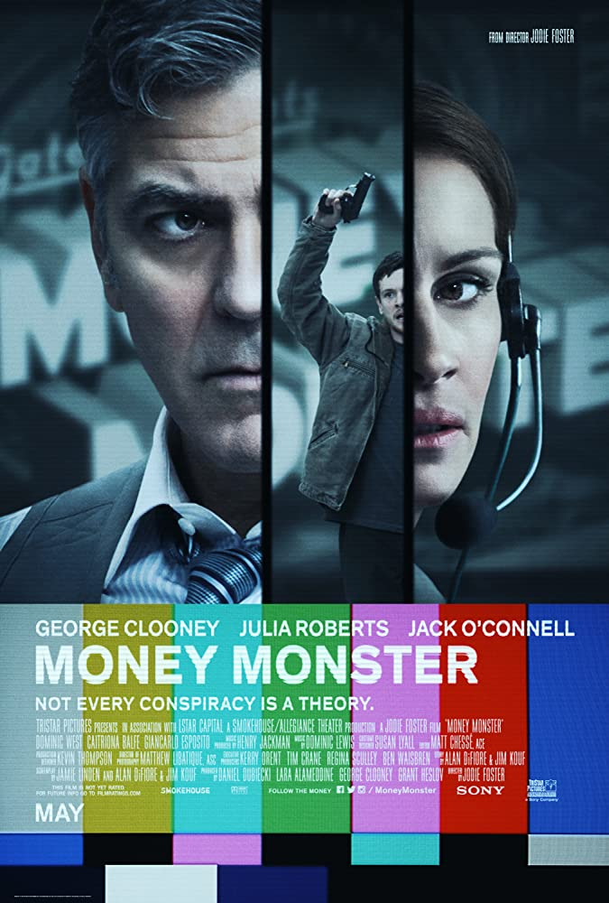 George Clooney, Julia Roberts, and Jack O'Connell in Money Monster (2016)