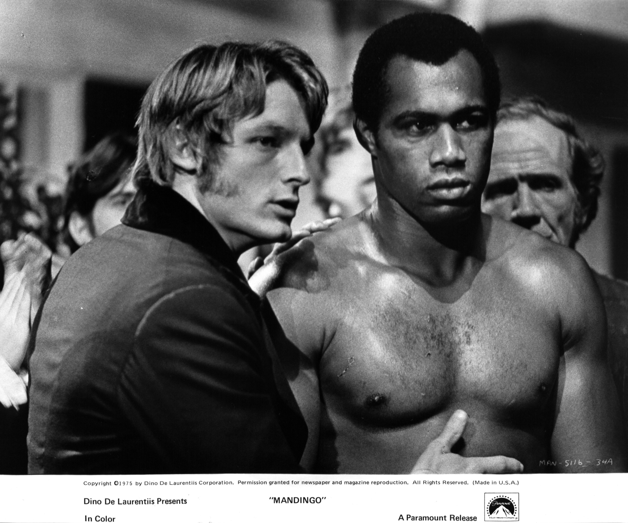 Perry King and Ken Norton at an event for Mandingo (1975)