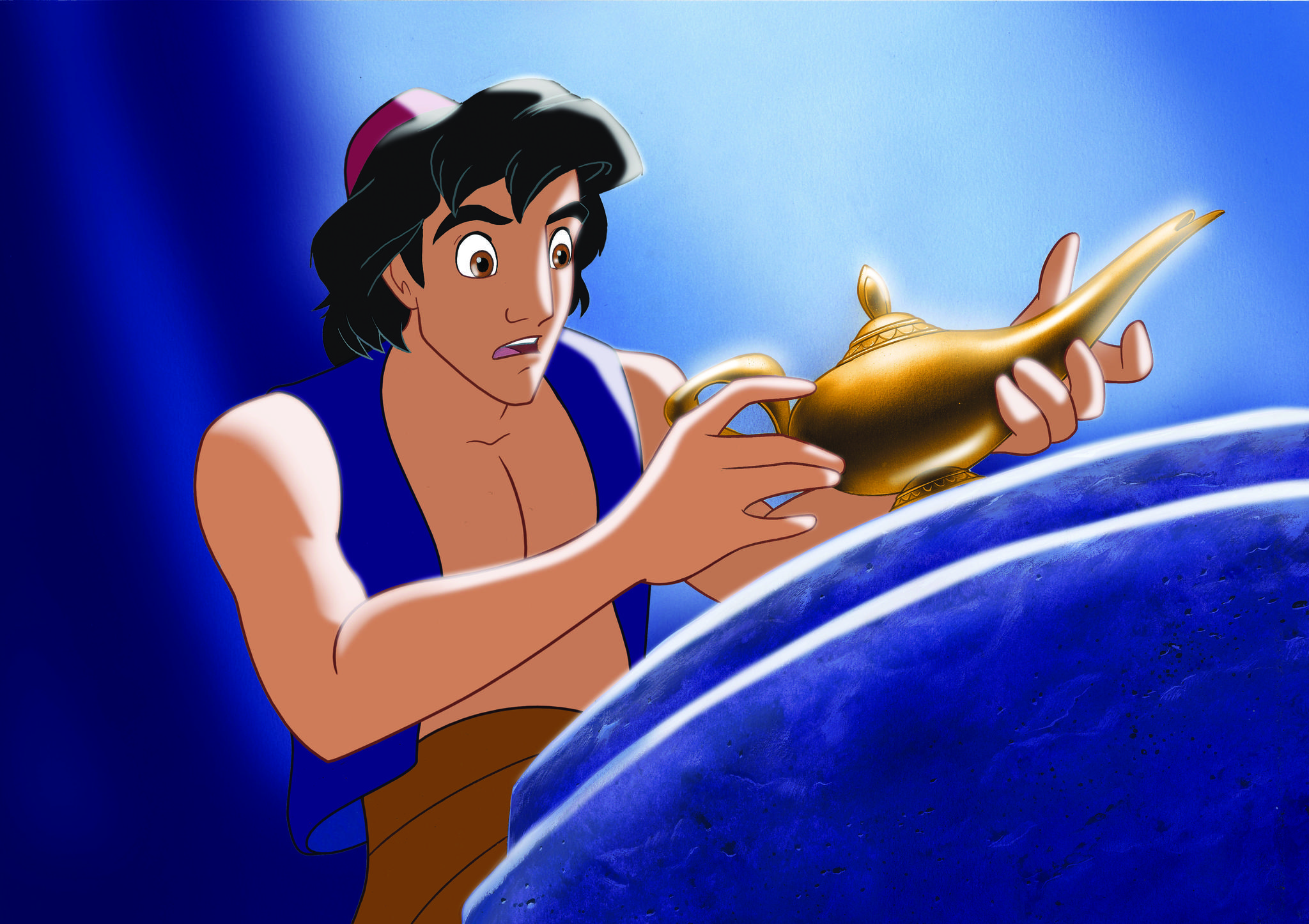 Brad Kane and Scott Weinger in Aladdin (1992)