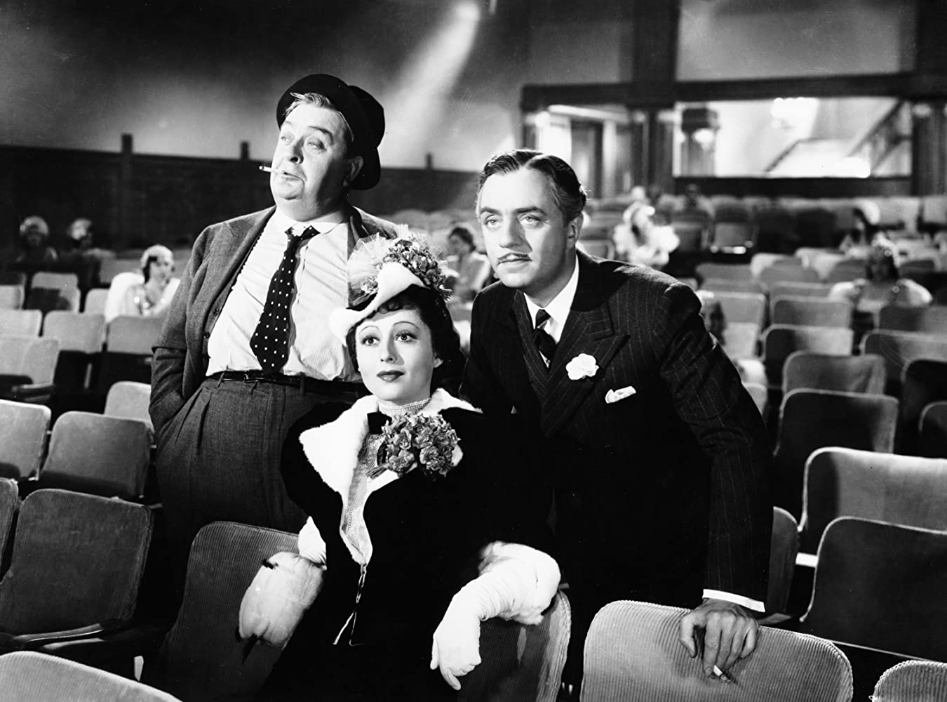 William Powell, Robert Greig, and Luise Rainer in The Great Ziegfeld (1936)