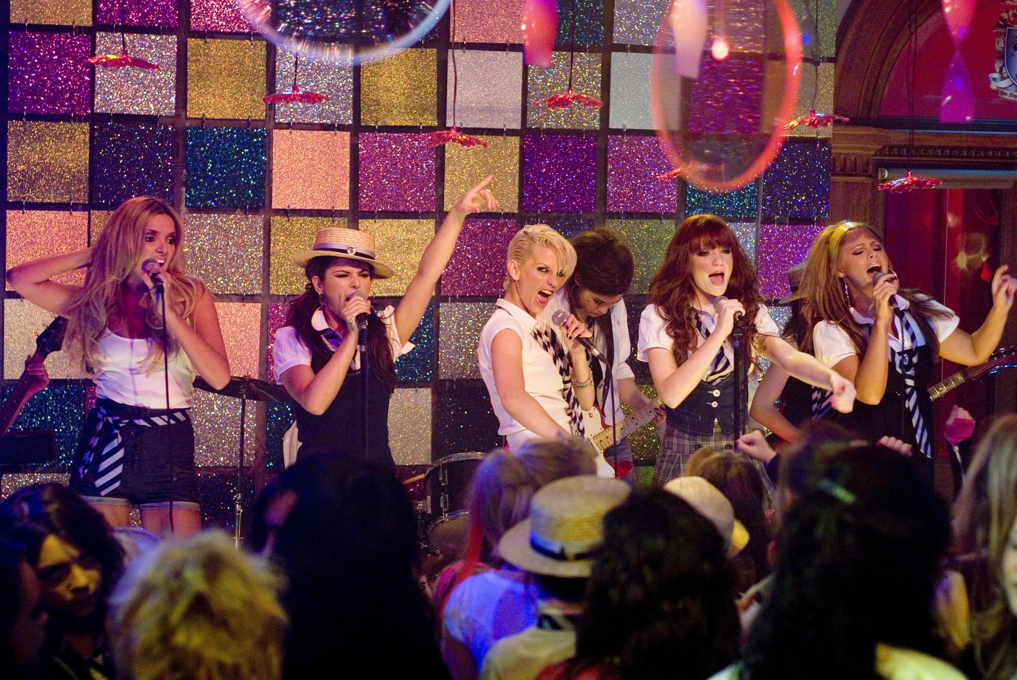 Cheryl, Kimberley Walsh, Nadine Coyle, Sarah Harding, Nicola Roberts, and Girls Aloud in St. Trinian's (2007)