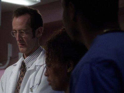 Lisa Nicole Carson, Eriq La Salle, and Ted Rooney in ER (1994)