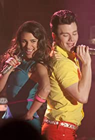 Lea Michele and Chris Colfer in Glee (2009)