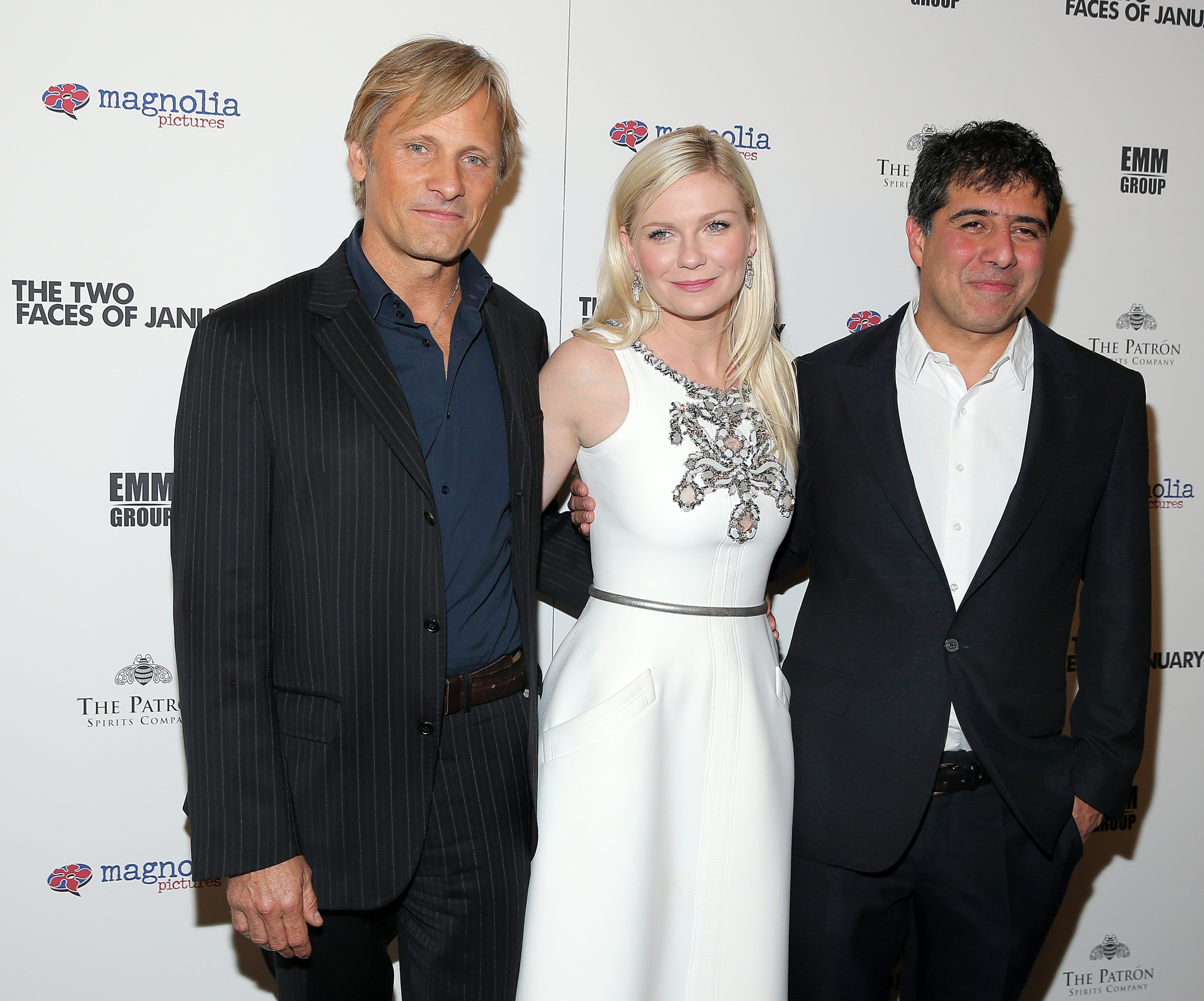 Kirsten Dunst, Viggo Mortensen, and Hossein Amini at an event for The Two Faces of January (2014)