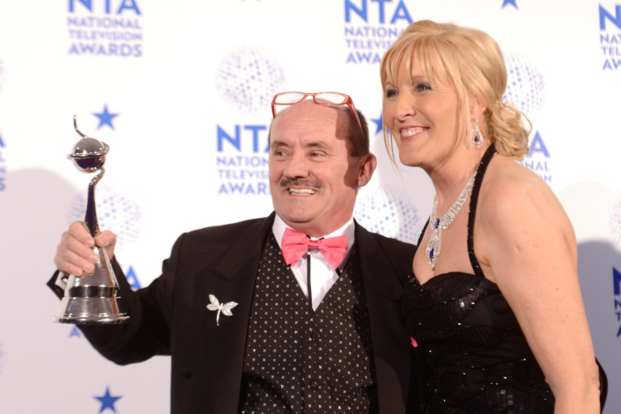 Jennifer Gibney and Brendan O'Carroll at an event for Mrs. Brown's Boys (2011)