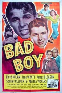 Audie Murphy, Lloyd Nolan, and Jane Wyatt in Bad Boy (1949)