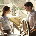 Michiel Huisman and Lily James in The Guernsey Literary and Potato Peel Pie Society (2018)