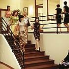(Left to right) Samantha Quan as Lori, Kathryn Hahn as Michelle, Annie Parisse as Jeannie, Kate Hudson as Andie and Bebe Neuwirth as Lana
