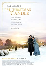 Hans Matheson and Samantha Barks in The Christmas Candle (2013)