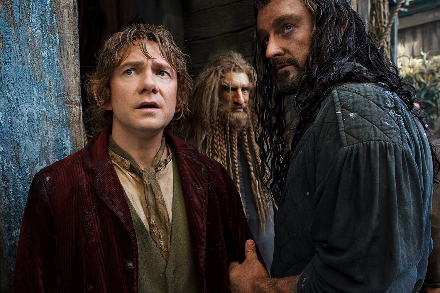 Richard Armitage, Jed Brophy, and Martin Freeman in The Hobbit: The Desolation of Smaug (2013)
