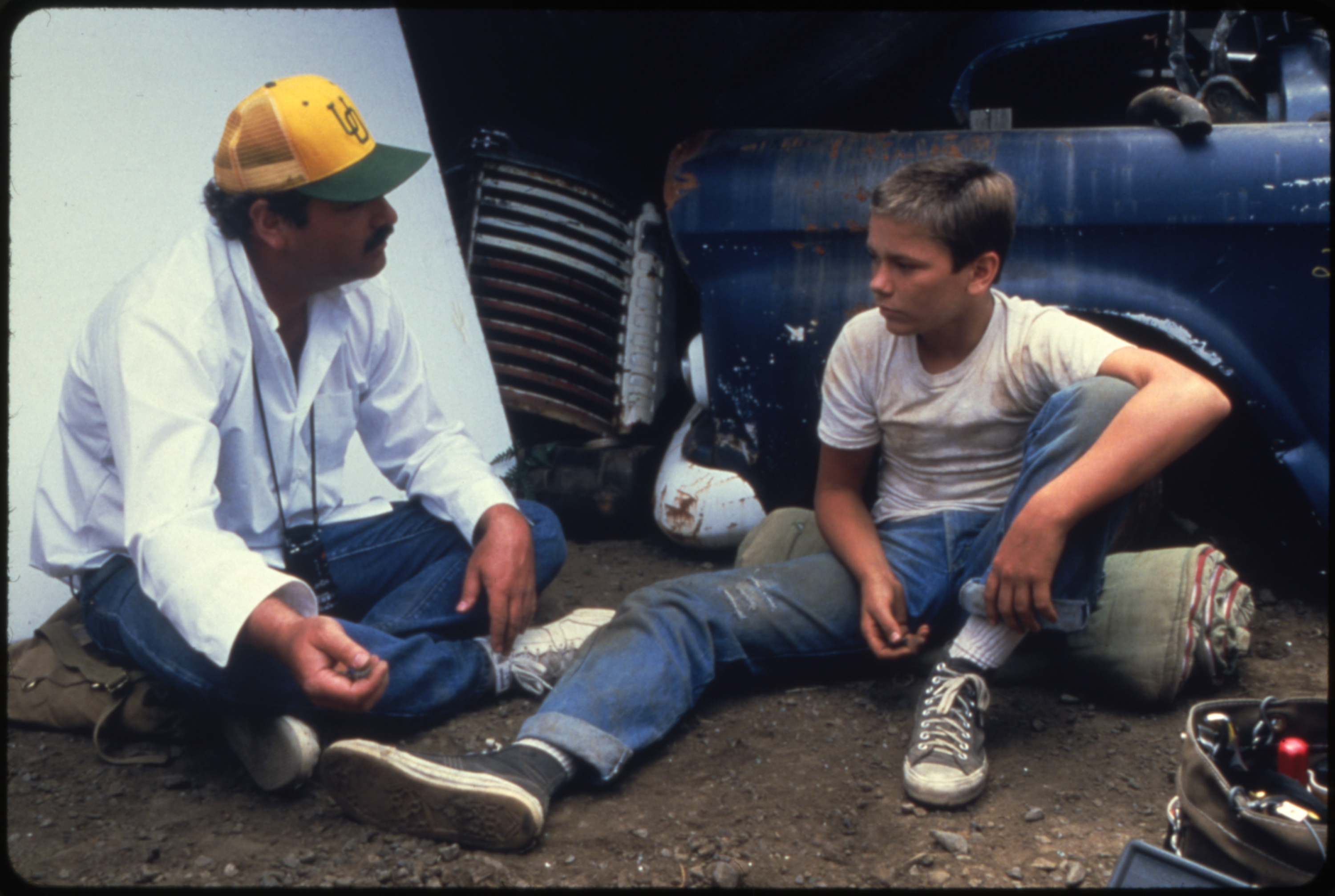 River Phoenix and Rob Reiner in Stand by Me (1986)