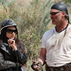 Andrea Logan White on set of Revelation Road with Brian Bosworth