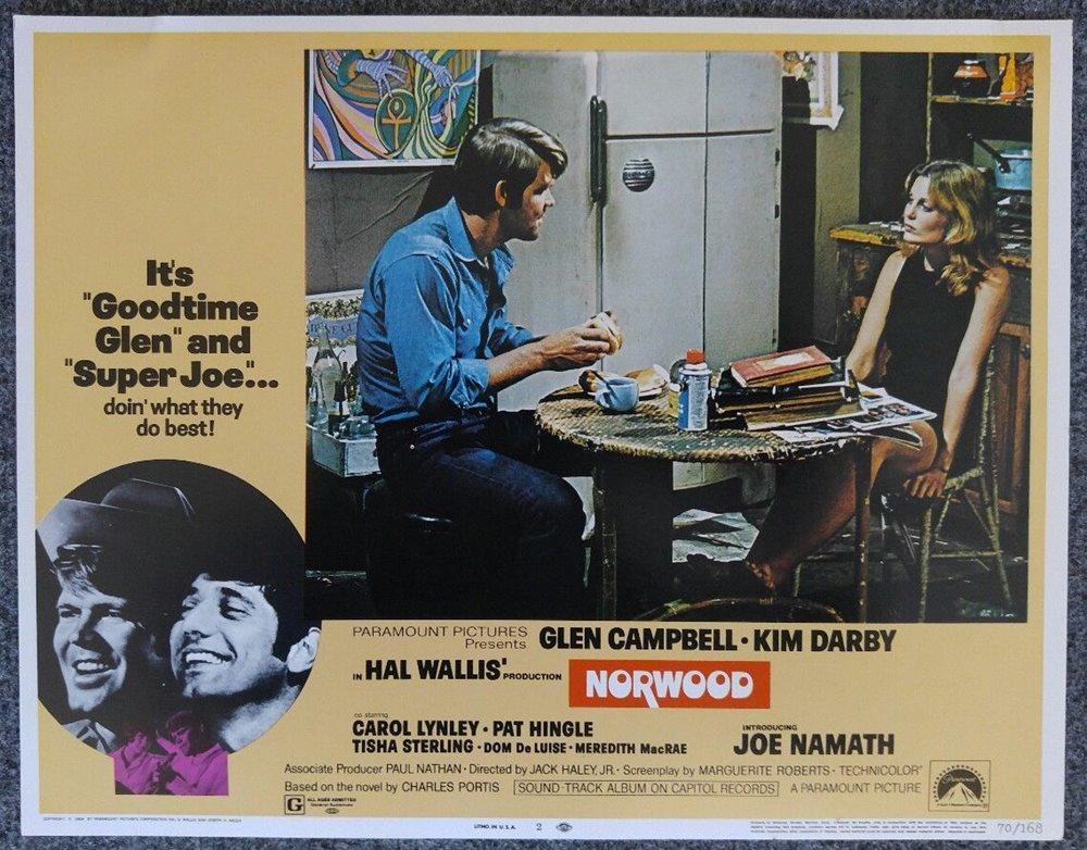 Glen Campbell, Joe Namath, and Tisha Sterling in Norwood (1970)