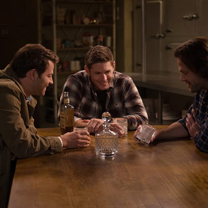 Jensen Ackles, Misha Collins, and Jared Padalecki in Supernatural (2005)