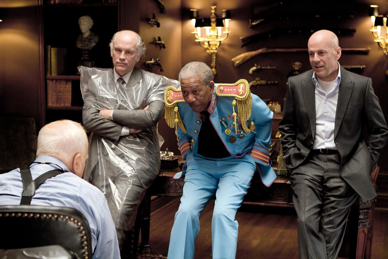 Morgan Freeman, Bruce Willis, Richard Dreyfuss, and John Malkovich in RED (2010)