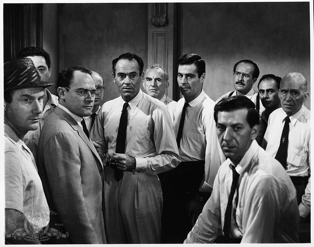 Henry Fonda Martin Balsam Jack Klugman Ed Begley Edward Binns John Fiedler EG Marshall Joseph Sweeney George Voskovec Jack Warden and Robert Webber in 12 Angry Men 1957