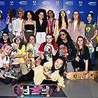 Rachelle Vinberg, Nina Moran, Ajani Russell, Jules Lorenzo, Brenn Lorenzo, and Kabrina Adams at an event for Skate Kitchen (2018)