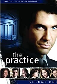 Lara Flynn Boyle, Dylan McDermott, LisaGay Hamilton, Steve Harris, Camryn Manheim, Kelli Williams, and Michael Badalucco in The Practice (1997)