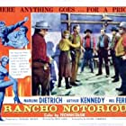Jack Elam, Mel Ferrer, I. Stanford Jolley, Arthur Kennedy, and Dan Seymour in Rancho Notorious (1952)