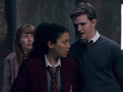 Bryony Afferson, Burkely Duffield, and Alexandra Shipp in House of Anubis (2011)
