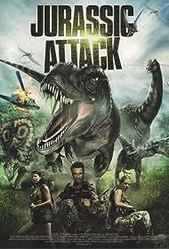 Corin Nemec, Gary Stretch, and Natascha Berg in Jurassic Attack (2013)